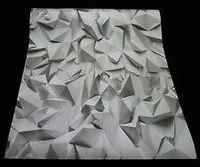 42097-40) 1 Rolle edle Vliestapete mit 3D Optik Times - grau + silber glänzend