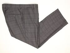 Ted Baker Mens Dress Pants 34x29 Gray Plaid Check Flat Front Wool Odd Trousers