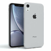 Apple iPhone XR Hülle Silikon Case Cover Handy Tasche Slim Matt Transparent