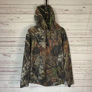Redhead Mossy Oak Mens sz M Camo Hoodie Polyester / Spandex Hunting