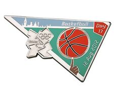 "OFFICIAL LICENSED LONDON 2012 OLYMPIC GAMES PIN / BADGE ""BASKETBALL"" DAY #17"