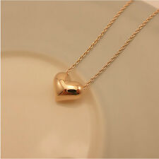 Collier avec Pendentif Femmes Amour Coeur en Plaqué or de Bijoux de la Chaîne