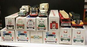 Hess Advertisement Truck Lot of 15 1990 2000 1993 1995