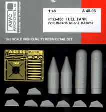 Awc Models 1/48 Ptb-450 Fuel Tank for Russian Helicopters Resin & Pe Set