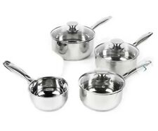 Russell Hobbs Classic Collection Stainless Steel 4 Piece Pan Set
