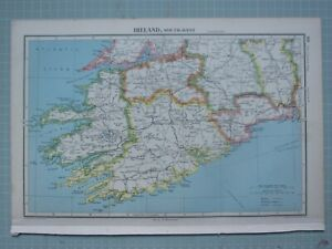 1943 MAP IRELAND SOUTH WEST ~ LIMERICK WATERFORD CORK KERRY KILLARNEY