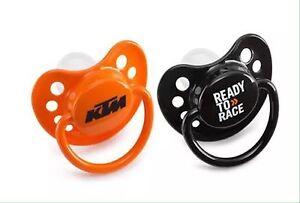 Brand New KTM Motocross Dummy Baby Kids Silencer 2 Pack