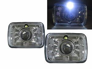 C1500/C2500/C3500 1979-2001 Pickup 2D Projector Headlight Chrome V2 for GMC LHD