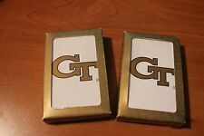 Georgia Tech Yellow Jackets (2 Packs) Playing Cards NEW - NICE COLLECTABLE