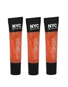 LOT OF 3 - N.Y.C. / NYC Kiss Gloss #534 Tribeca Tangerine