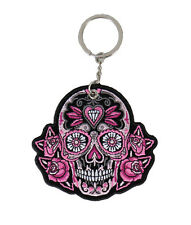 Sugar Skull Embroidered  Key Chain