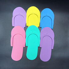 12 Pairs Foam Disposable Pedicure Travel Slippers Women Men Flip Flops Foot Spa