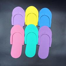 12 Pairs Foam Disposable Pedicure Travel Slippers Women Men Flip Flops Foot Spa