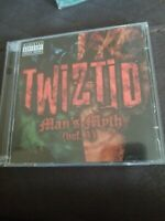 TWIZTID - MAN'S MYTH VOL 1 CD & DVD SET 2005 PSYCHOPATHIC ICP INSANE CLOWN POSSE