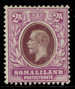 SOMALILAND PROTECTORATE GV SG75, 2a dull & bright purple, M MINT.