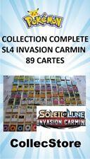 ☺ Collection Complète SL4 Invasion Carmin Lot de 89 Cartes Pokémon VF NEUVE