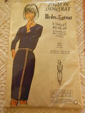 Patron ancien vintage robe en crepe taille 40 44 48 patron immédiat