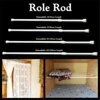 UK Spring Load Extendable Telescopic Net Voile Tension Curtain Rail Pole Rod gou