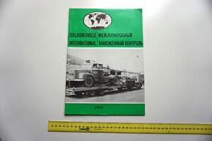 Sozialistische Zollkontrolle International Zeitschrift Heft DDR UdSSR 1990 GDR