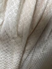 """Creamy Gold Curtains Damask Unlined Pencil Pleat 94"""" Length"""
