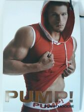 Pump! Men's Sleevless Hooded Tank Muscle Top Red Size XL RRP £50 Gay Interest
