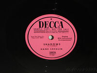 HANK LOCKLIN Shadows / Lessons In Love PROMO 78 Decca 28826 VG+ Clean!
