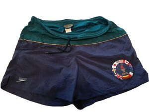 Vintage 1996 Atlanta Olympics USA Speedo Swim Trunks Men's Size medium good cond