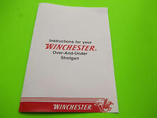 OWNER INSTRUCTIONS & HANG TAG FOR WINCHESTER OVER & UNDER SHOTGUN, 20 GA FIELD