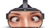 Goofy Girl vinyl skin that fits the Oculus Quest