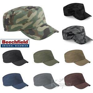 Beechfield ARMY PLAIN & CAMO CAP Men Women Hat Military Cadet Combat Hunting Cap