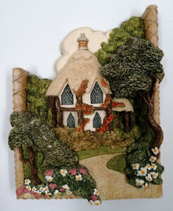"""Llilliput Lane 'Cobble Combe' 1989 Wall hanging 3D Picture 7 x 5.5"""" MARKED  HB14"""
