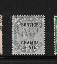 1887-98, Chamba, SG015 CAT £ 275 solo 1819 copie stampate, KGV, India, stati INDIANI