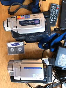 Sony DCR-TRV17E & JVC GR-DVL167 Mini DV Camcorders + Accessories