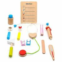 Ako Doctor Set Medical Kit Wooden Role Play Toy Pretent Playset for Children