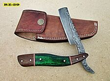 RZ-29, Handmade Damascus Steel Straight Razor - Beautiful & Solid Handle