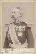 1896 CABINET CARD PORTRAIT OF FRENCH GENERAL DE TRACY IN UNIFORM