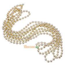 2.7m Gold Beads Christmas Tree Ornaments Party Tinsel Xmas Window Garland Decor