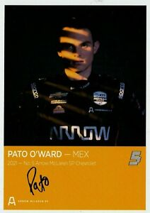 2021 PATO O'WARD SIGNED INDIANAPOLIS INDY 500 CAR PROMO CARD