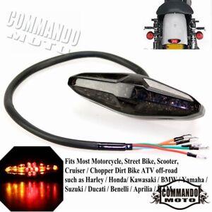 Universal Motorcycle LED Tail Light Brake Indicator Lamp Motorbike Rear Lamp NEW