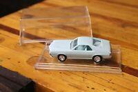 "1969 AMC AMX Dealer Promo Car Baby Blue Plastic Model Car 4"" Vintage with case"