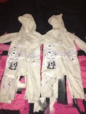 Twins Penguin Polar Bear All In Ones Hooded 9-12 Months
