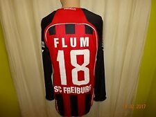 "SC Freiburg Jako Langarm Matchworn Trikot 2008/09 ""Duravit"" + Nr.18 Flum Gr.M/L"