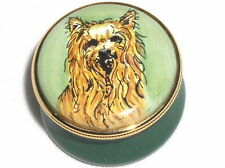 Crummles Yorkshire Terrier Dog on Small Enamel Pill Box