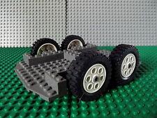Lego Vehicle Truck Base 12 x 18 x 1 1/3 Rock Raider Dozer Base White Wheels