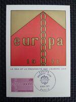 FRANCE MK 1971 EUROPA CEPT MAXIMUMKARTE CARTE MAXIMUM CARD MC CM c728