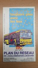 ► TEC Liège-Verviers - plan réseau agglomération liègeoise (septembre 1995)