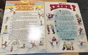 TT16 Vintage 1975 Snow Skier Poster Poem Blessing Ski