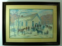 """Birthplace of the Republican Party by A. Jack May Signed Print Framed  30""""x22"""""""