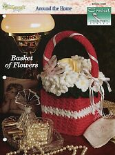 Basket of Flowers Boutique Tissue Cover, Crochet Collector's pattern leaflet New