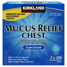 Kirkland Mucus Relief Guaifenesin 400mg Chest Expectorant 200 400 600 800 Tablet